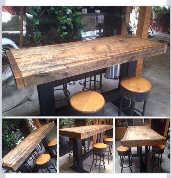 Elegant Wood Bar top Table