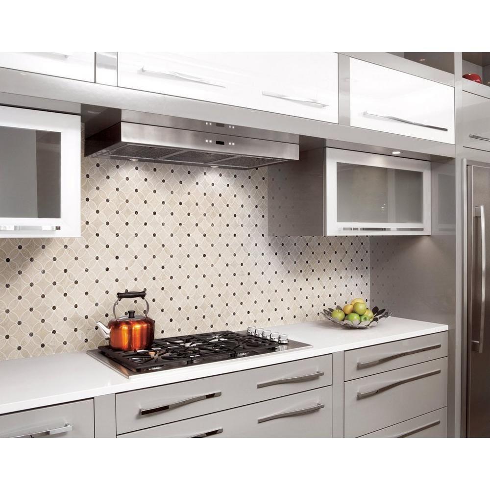 Impero Reale Flower Marble Mosaic Floor Decor Kitchen Remodel Small Backsplash Trends