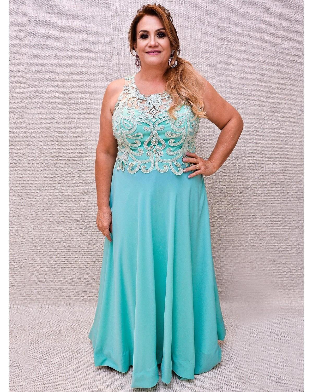 c78a86a321e0 LINES - Alugue seu Dress vestido plus size, vestido senhoras, vestido azul  claro,