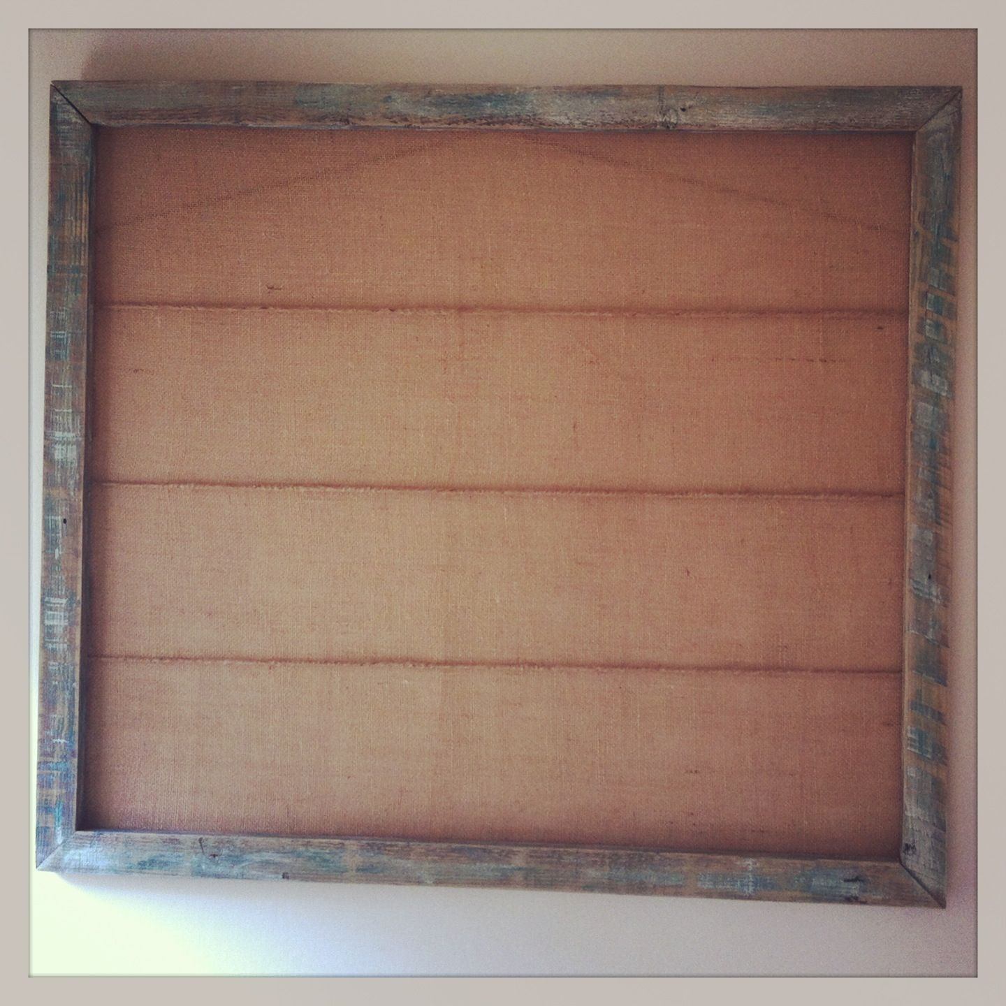 Homemade rustic picture frame - wooden frame sanded down, painted ...
