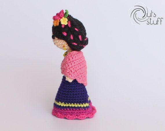 Amigurumi Frida Kahlo : Frida kahlo patrón crochet ganchillo artesanias