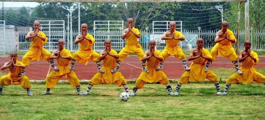 Shaolin Student soccer team.