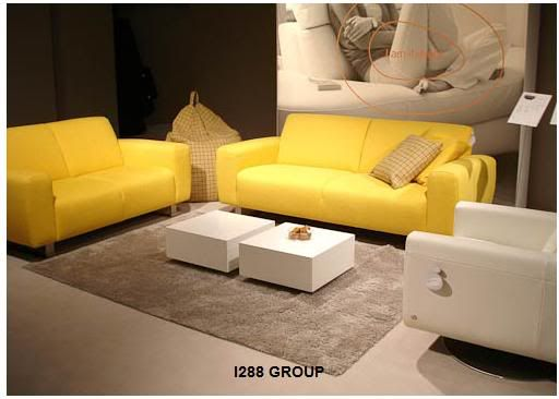 Interior Concepts Furniture Specializing In Natuzzi Leather Sofas Italsofa By I288 Micro Knit Yellow
