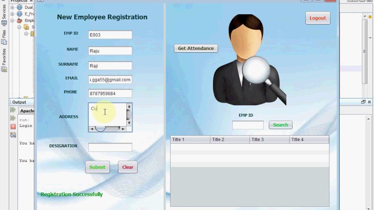Fingerprint Based Employee Attendance System Codemint Coding Fingerprint Biometric Fingerprint Scanner
