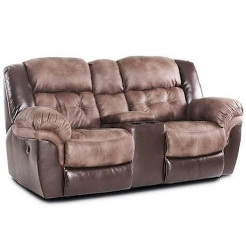 Homestretch 139 Casual Reclining Loveseat With Console Power
