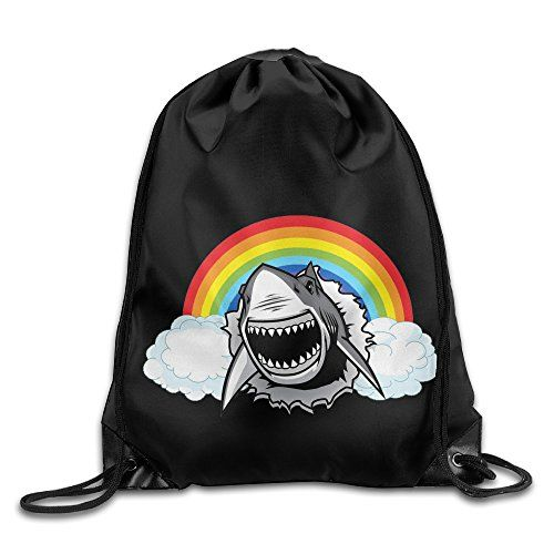 95956ab99b Rainbow Shark Bags Funny Sack Bagbackpack For Travel -- Read more at the  image link