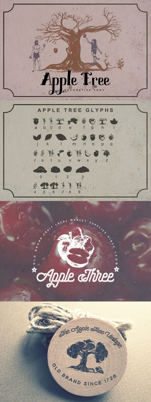 Apple Tree Decorative Font Decorative font, Logo fonts