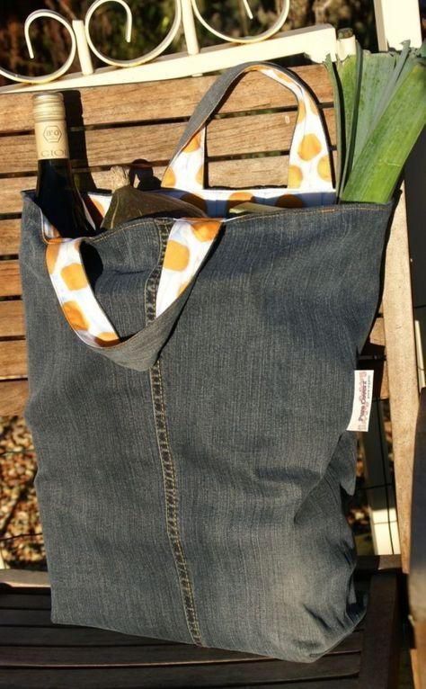 Tasche aus alter Jeans nähen - Einfache Anleitung und Ideen #vieuxjeans