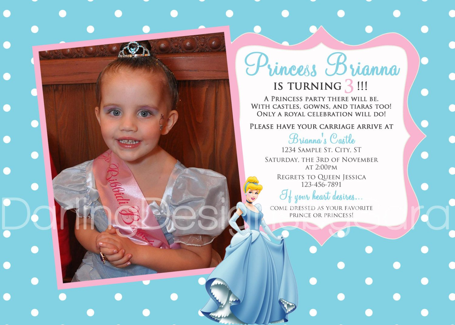 Cinderella Party Invitation Wording tone of your party with