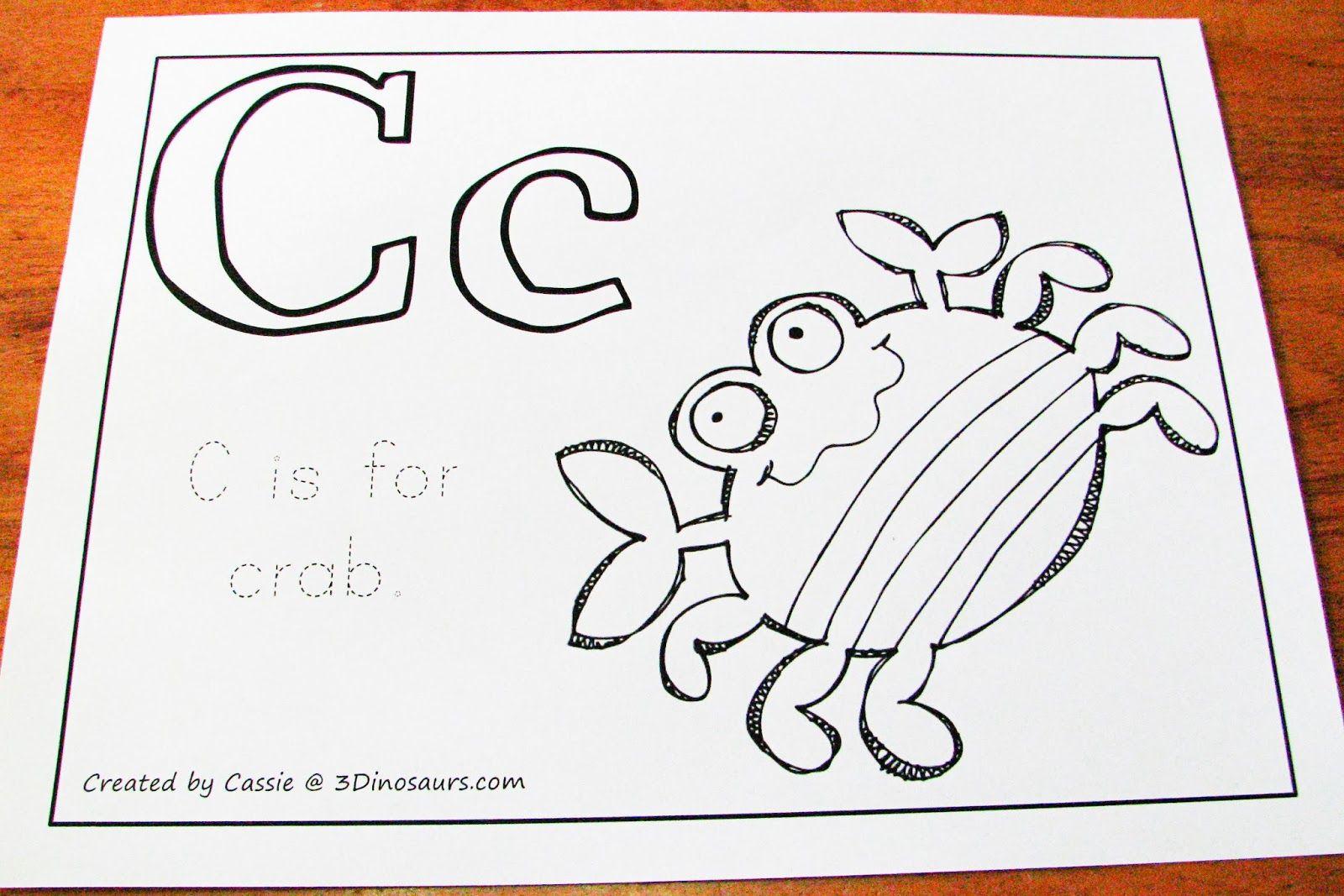 C Is For Crab Preschool Theme Mommy S Little Helper