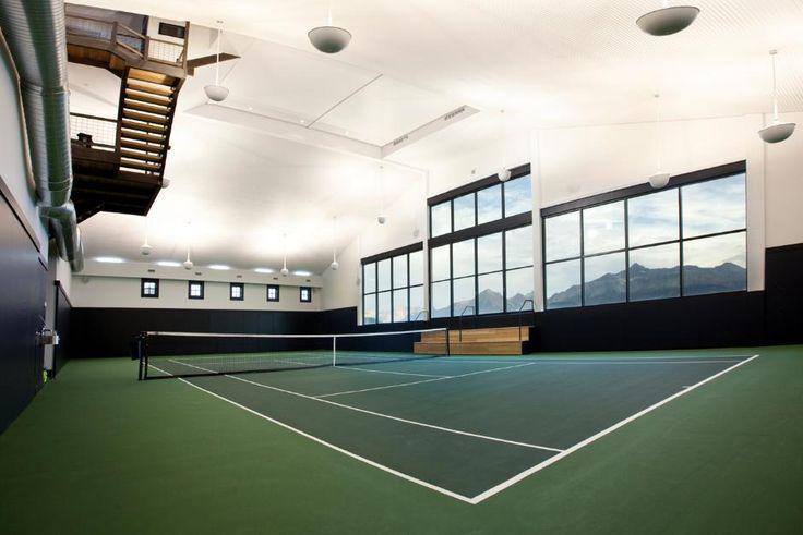Indoor shot of Tennis court - Private Tennis Facility in Telluride ...