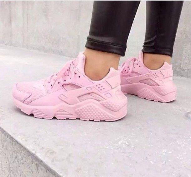 low priced b6562 a6da6 ... cheap rosa shoes huarache pink customized nike huaraches pastel pink  wheretoget c958e 2a0a8