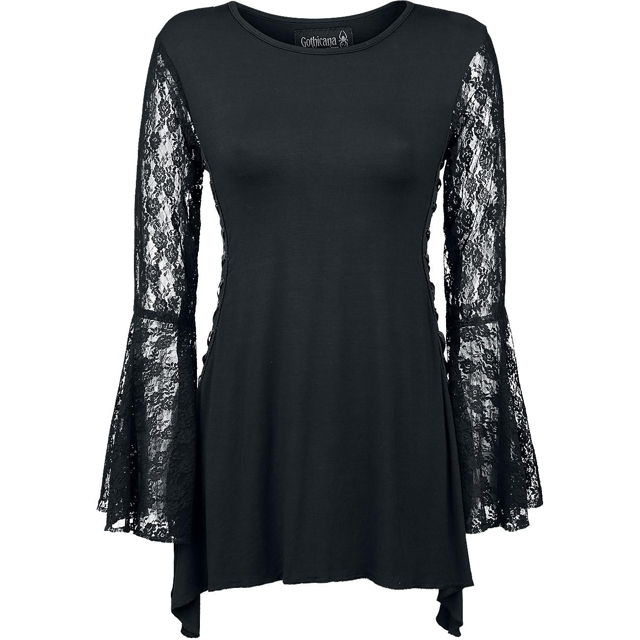 Angel Sleeve Shirt by Gothicana by EMP