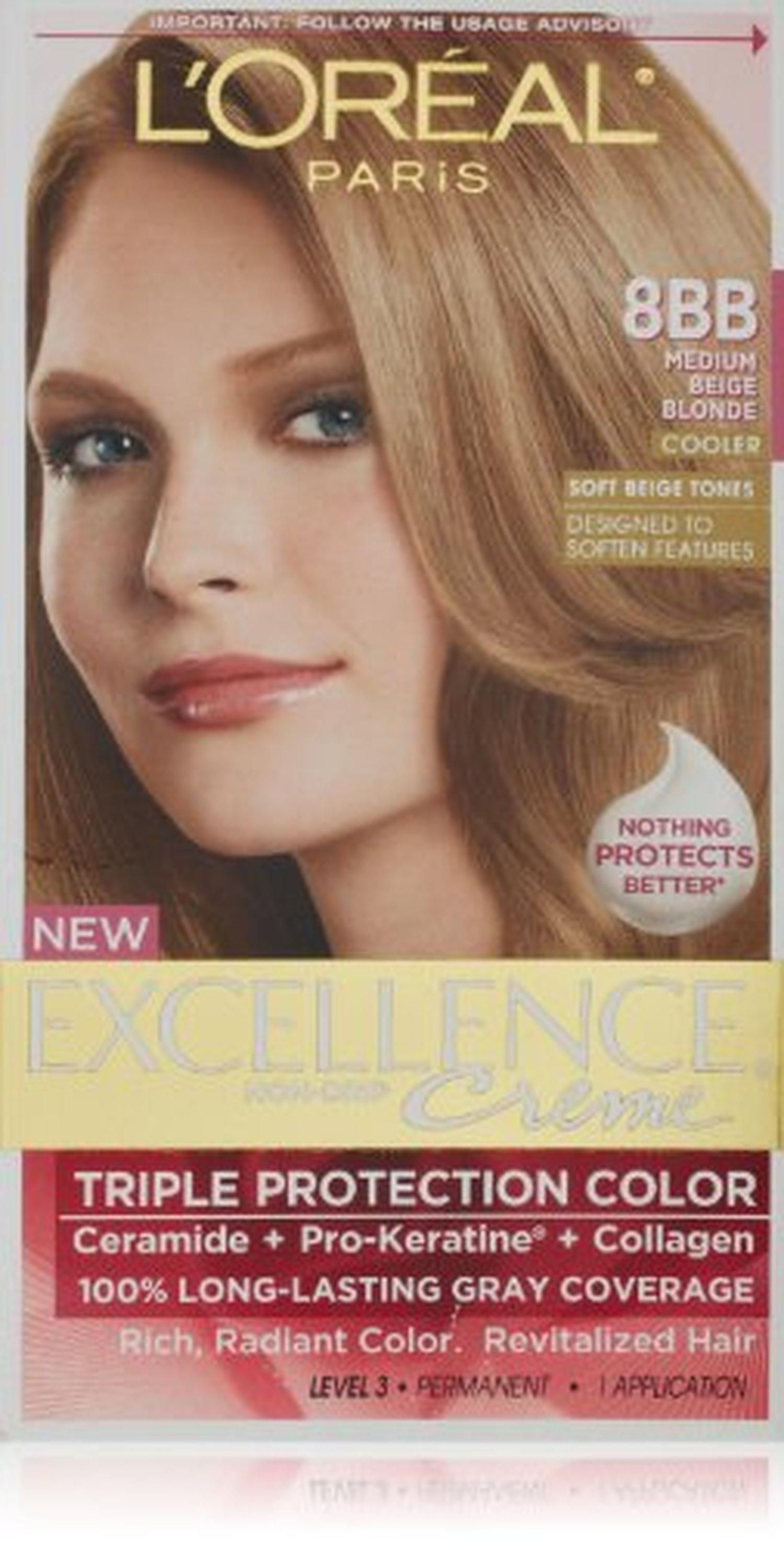 L Oreal Excellence Triple Protection Color Creme Haircolor 8bb Medium Beige Blonde Brought