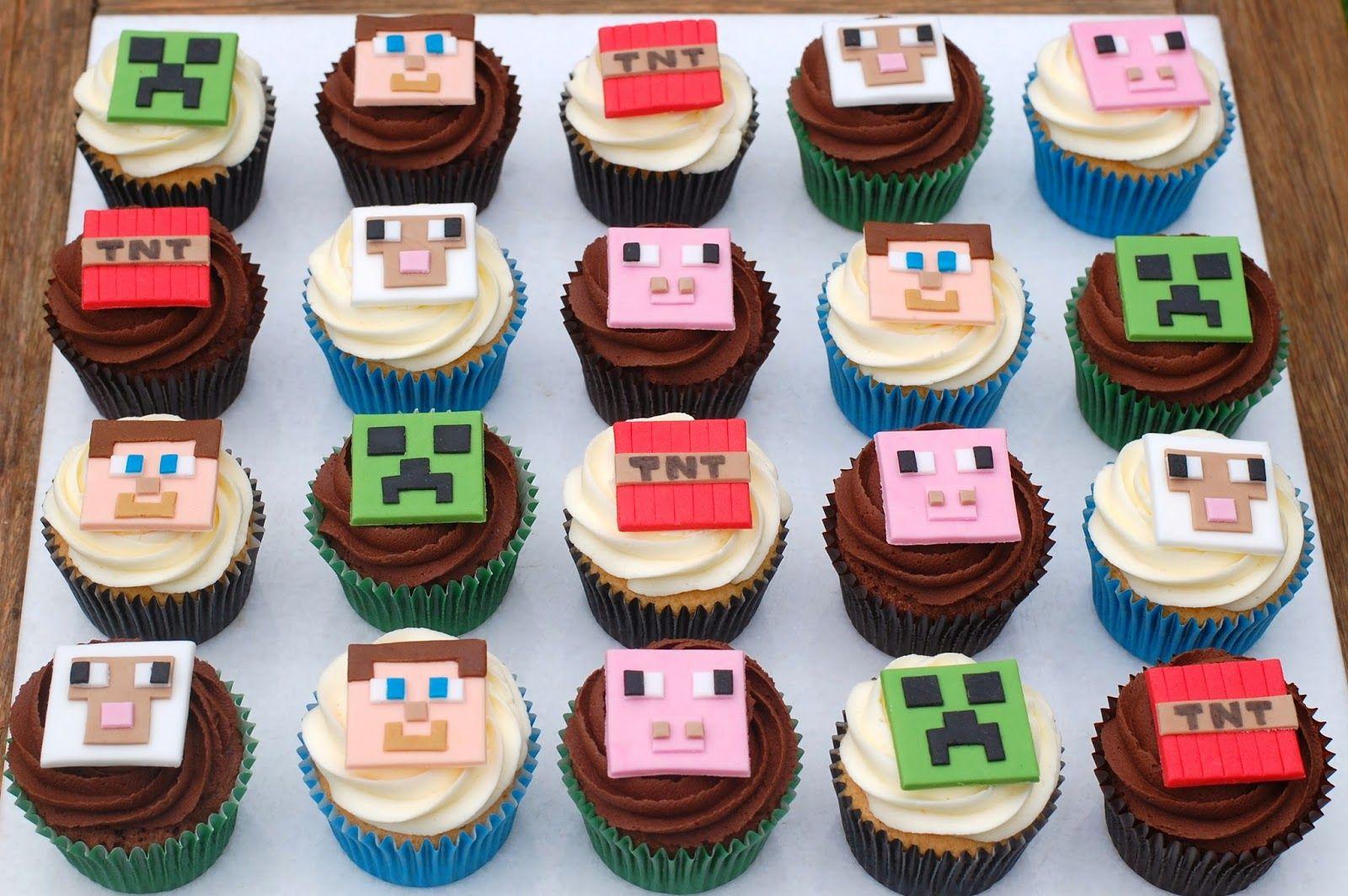 Easy Minecraft Cake Steve Cupcakes Minecraft Cakes For