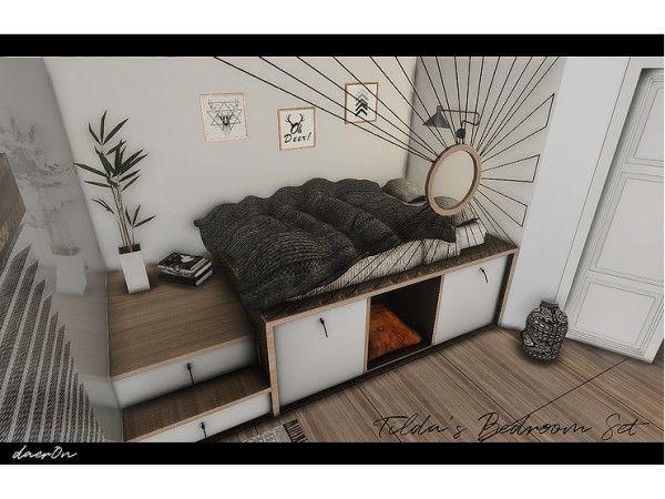 Tildas Bedroom Set By Daeron The Sims 4 Download Simsdomination Sims 4 Bedroom Bedroom Set Sims House