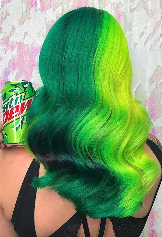 63 Offbeat Green Hair Color Ideas in 2021 Green Hair Dye Kits to Try Gallery