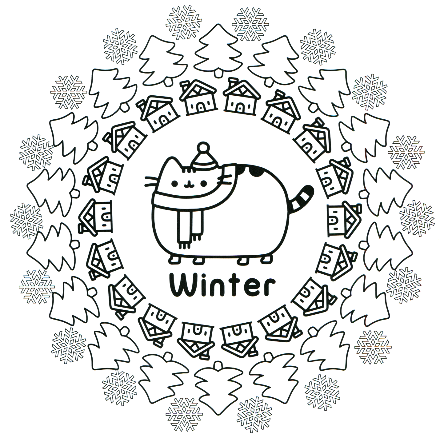 Pusheen Coloring Book Pusheen Pusheen The Cat Pusheen Coloring Pages Cat Coloring Page Christmas Coloring Pages
