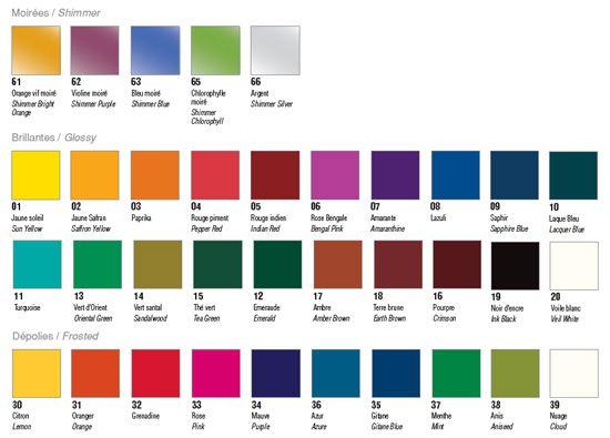 Glass Paint Vitrea 160 Colours Peinture Sur Verre Depoli Couleur