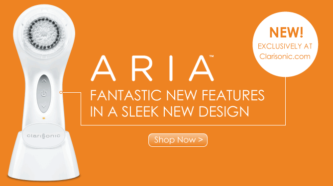 So addicted to the NEW Aria from Clarisonic, which is odd because I don't have an addictive personality!!!!!