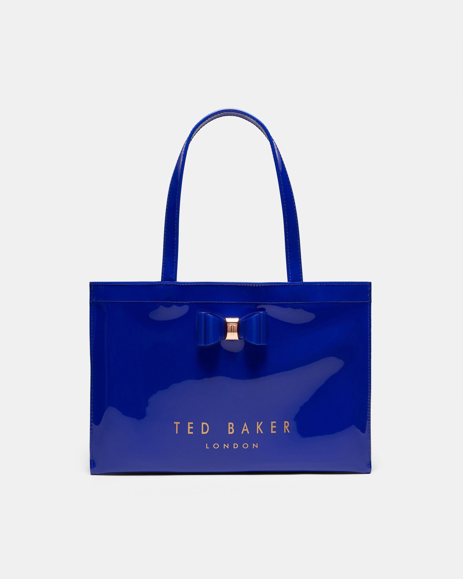 50e058311a5fad Ted Baker Bow detail large shopper bag Bright Blue