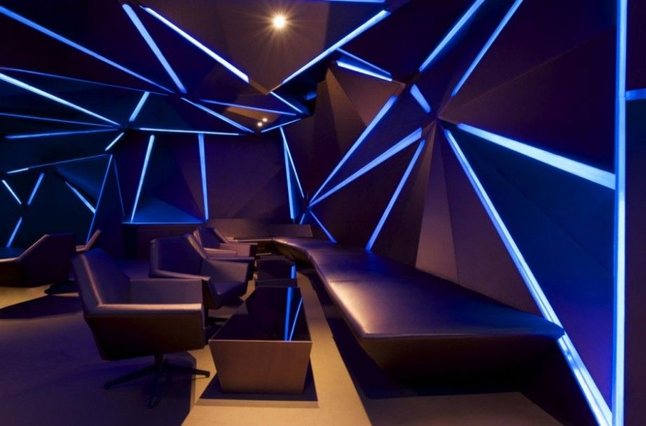 Lighting Ideas Lounge Room Interior Design With Blue Led Strip Lights Increase Your Mood With Mood Li Bar Interior Design Lighting Design Interior Bar Design