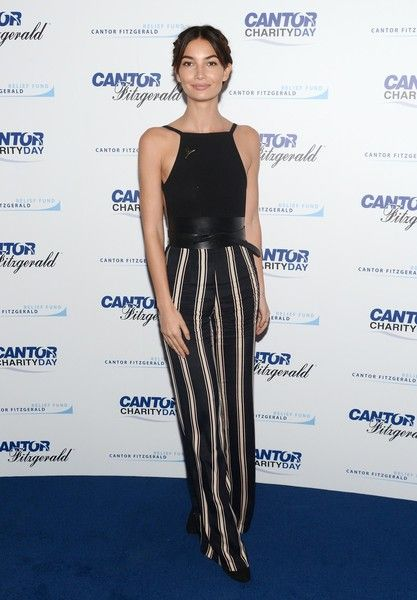 Lily Aldridge Photos Photos Annual Charity Day Hosted By Cantor Fitzgerald And Bgc Cantor Fitzgerald Office Arrivals Lily Aldridge Fashion Basic Outfits