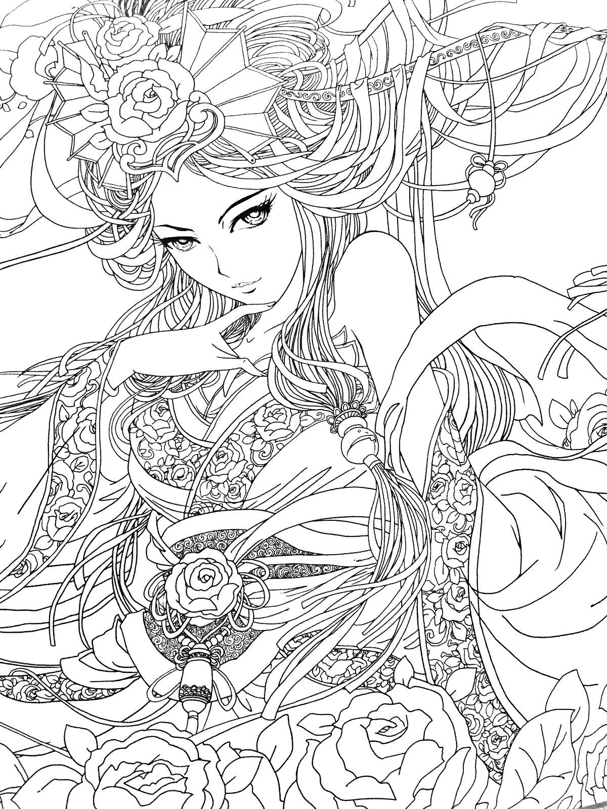 Pin By Marie Christine Alary On Color Her Pretty Coloring Books Coloring Pages Fairy Coloring Pages [ 1600 x 1200 Pixel ]