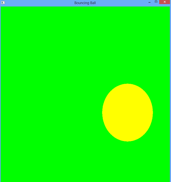 Learn how to draw simple opengl program the Bouncing Ball in