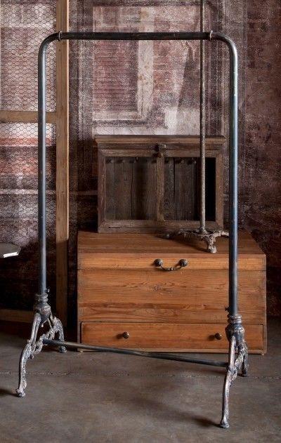 Vintage Style Cast Iron Standing Clothing Rack | Studio
