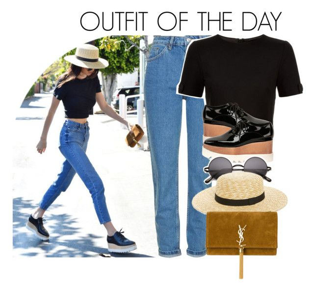 """""""#ootd: Kendall Jenner"""" by dipx1d ❤ liked on Polyvore featuring Topshop, Ted Baker, STELLA McCARTNEY, BP., Yves Saint Laurent and JaiOotd"""