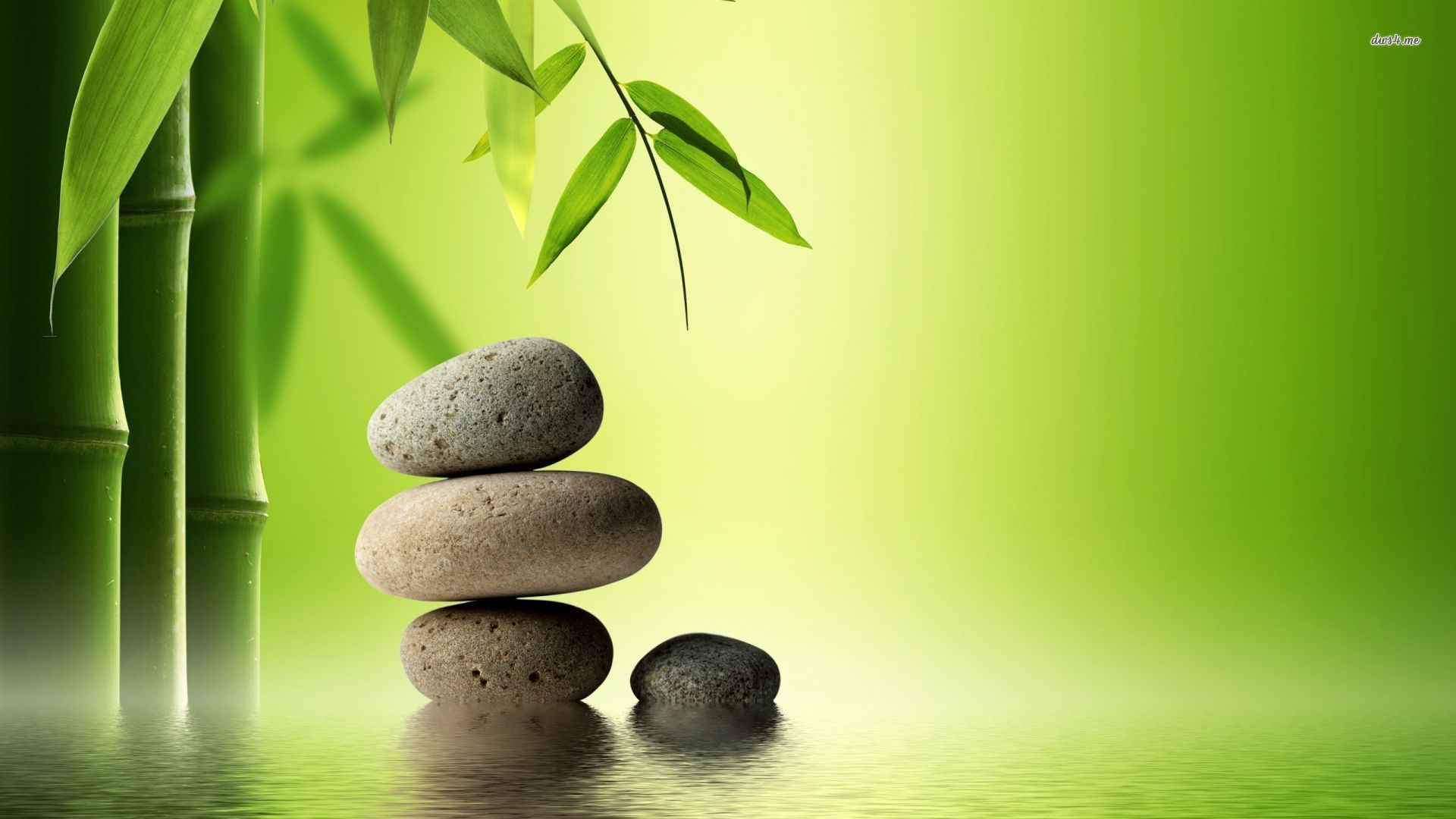 Bamboo Zen Stone Wallpaper High Resolution Wallpaper Full ...