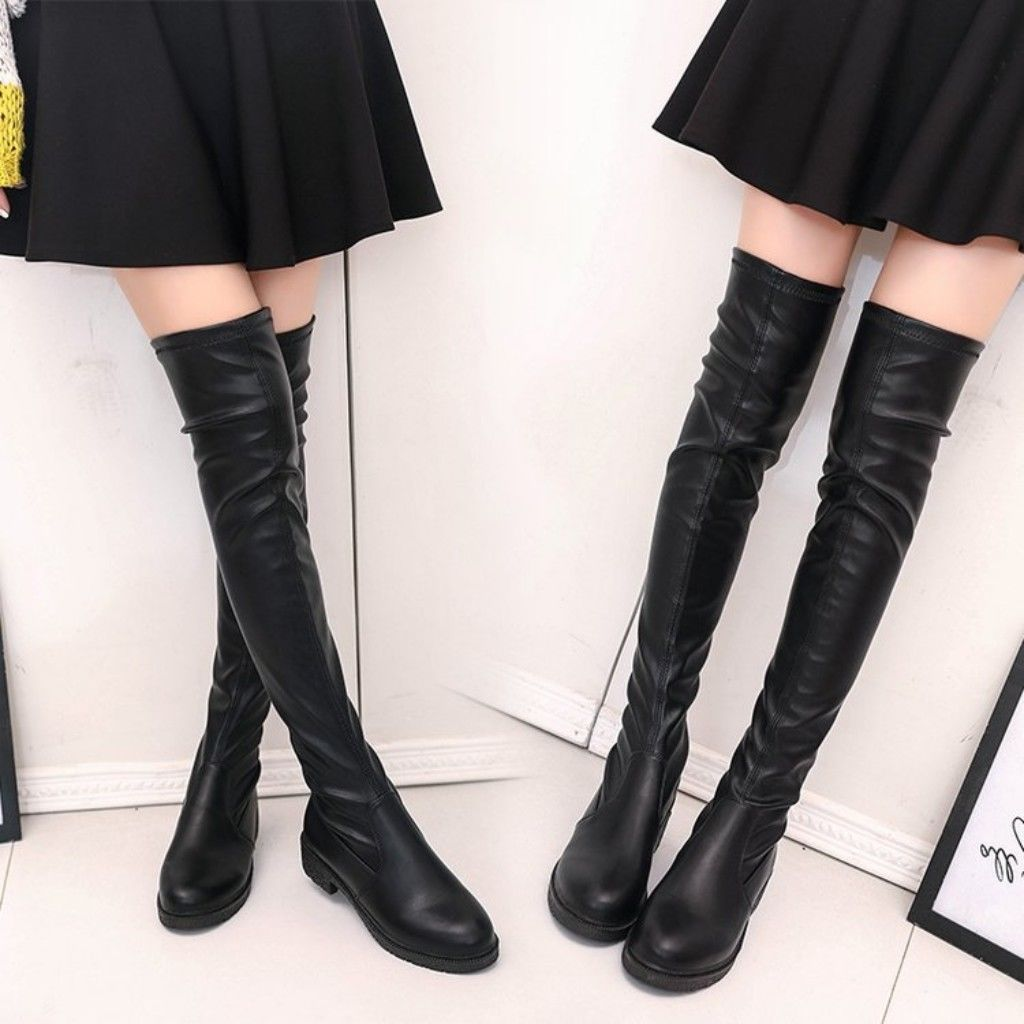 93d4eb036 Womens Classics Winter Formal Dress Chunky Block Heels Pull On Over Knee  Boots