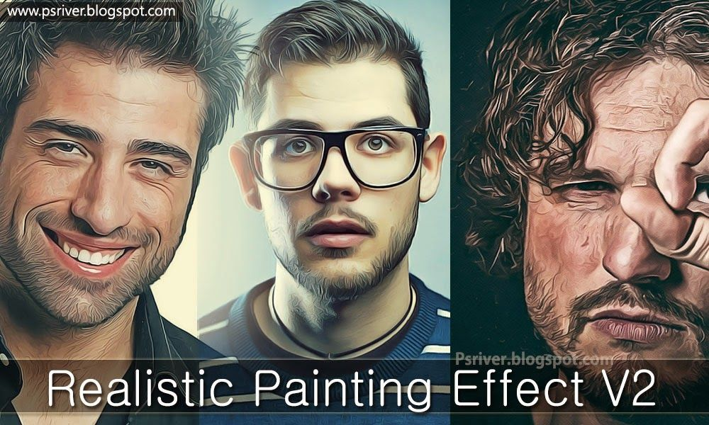 Painting Effect Photoshop Actions ~ Photoshop River - Free