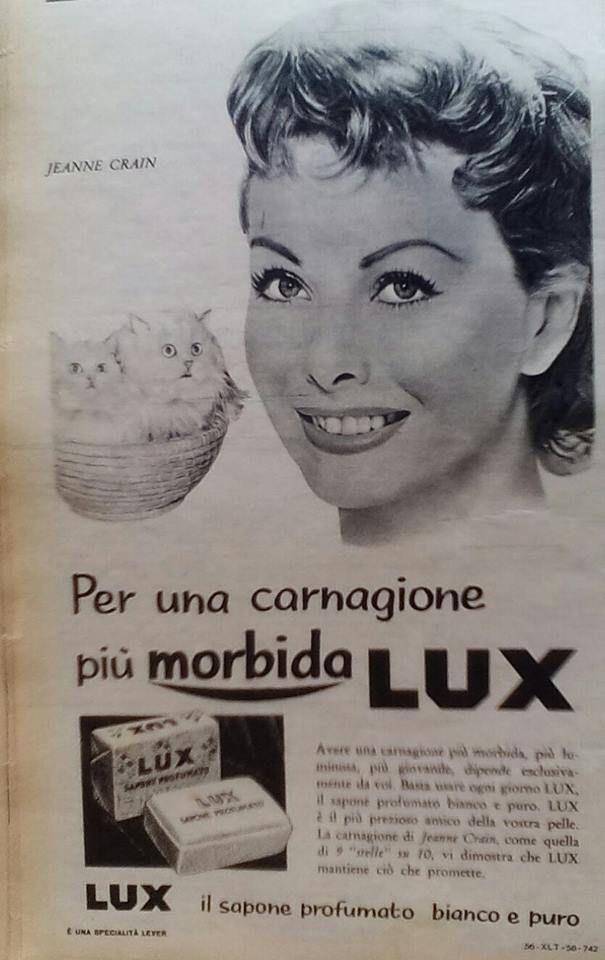 """La pubblicità negli anni 50 """" #sapone #Lux """" dalla rivista settimanale """"Tempo"""" 1956."""