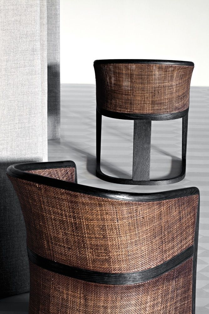 Grace Cane Back Armchair Wood Species Brushed Ash Upholstery Fabric Ecoleather Leather By Mauro Lipparini