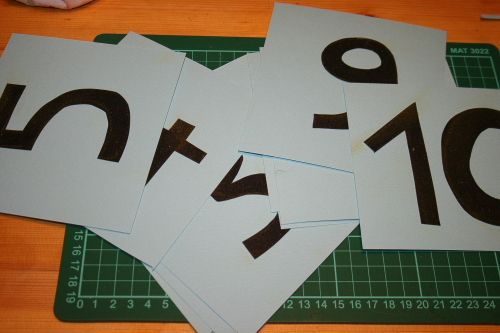 numeri tattili Montessori - DIY