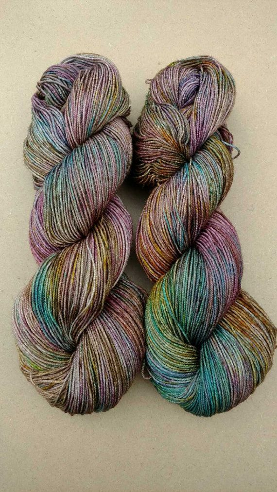 In the Garden Hand dyed yarn sock weight by YellowJuneFiberCo