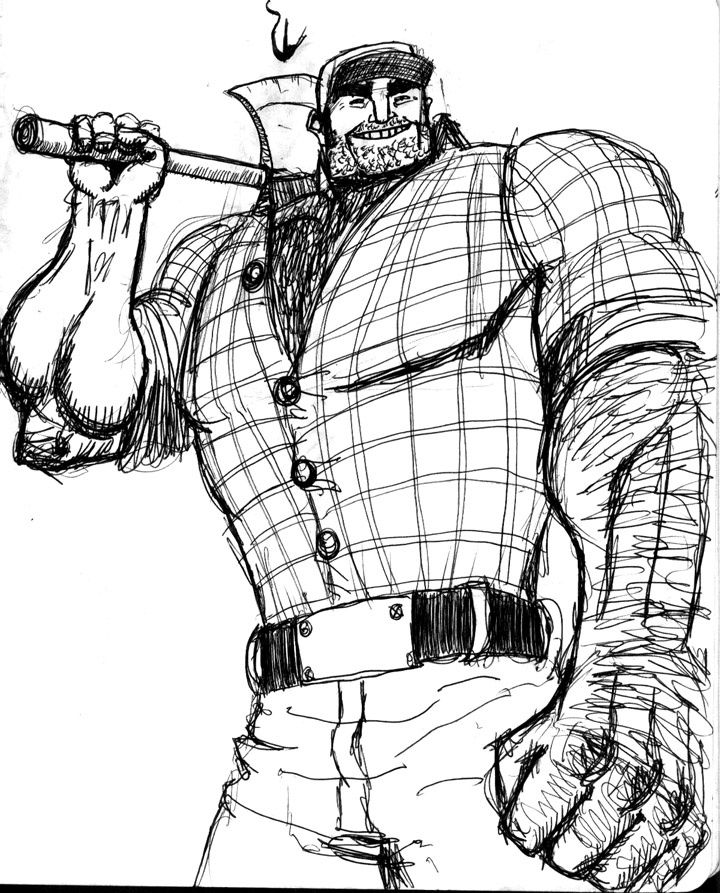 lumberjack drawing Google Search Cartoon man