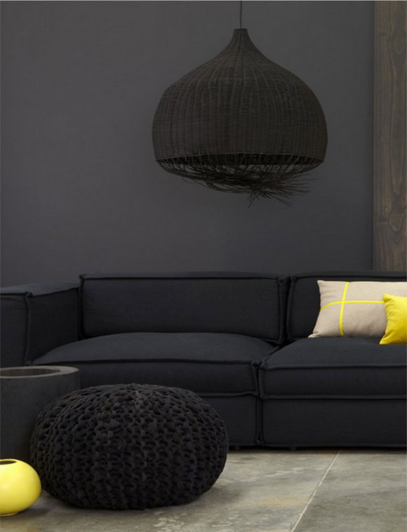 Perfect Noir Et Jaune Dans Le Salon / Black And Yellow In The Living + Sol Carrelage