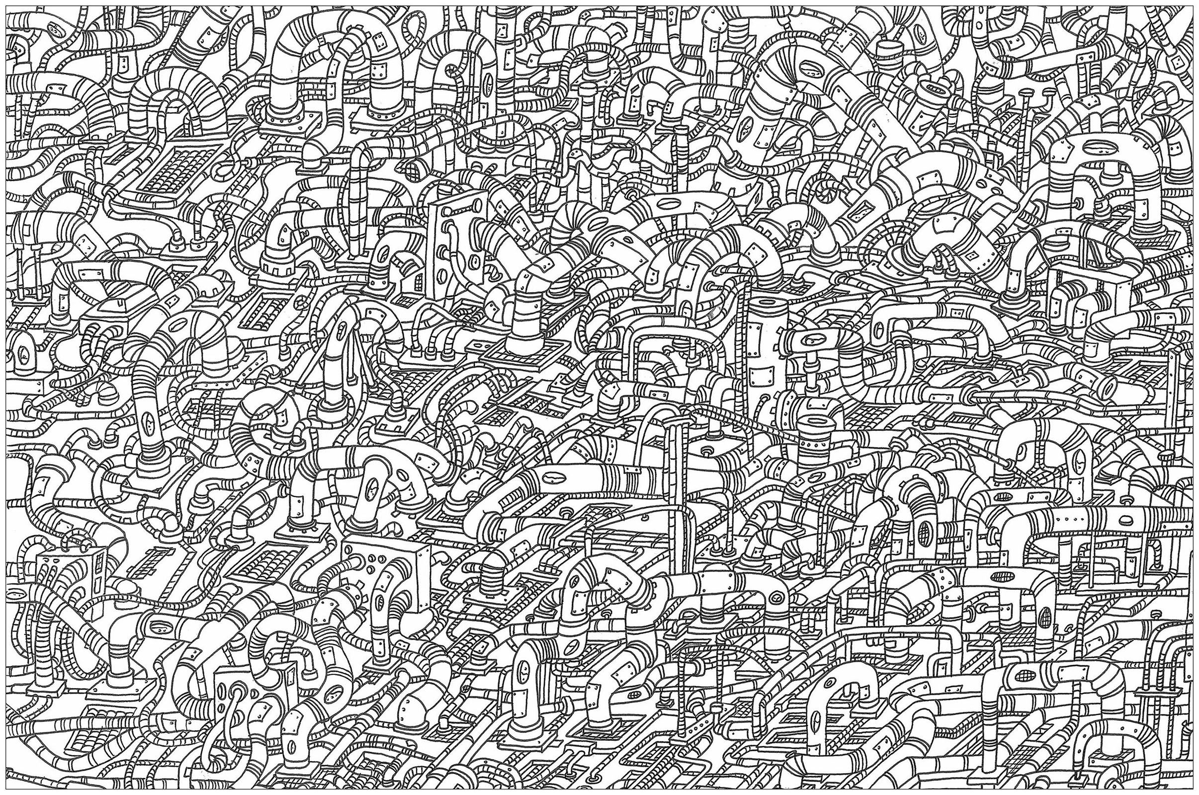 Hoses A Complex Coloring Page Where Is Waldo