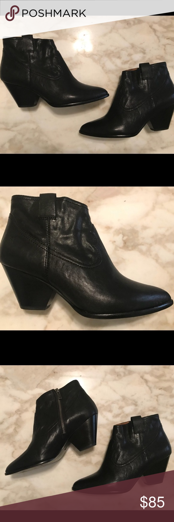 2f36c34d19b Frye Reina black booties Black leather booties/ankle boots reposh ...