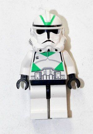 "LEGO Star Wars Ep 3 Green Clone Trooper - LEGO 2 Star Wars Figure"" by LEGO. $17.49. Comes from original lego set 7260 Wookiee Cataraman. Clone Troopers are LEGO 1-inch mini-figures based on the Star Wars characters known Clone Troopers. Clone Troopers fought against the Separatists for the Old Republic during the days of the Clone Wars. After the war ended they were reorganized into the Stormtrooper Corps under the Imperial Military. Clone Troopers have appeared in many d..."