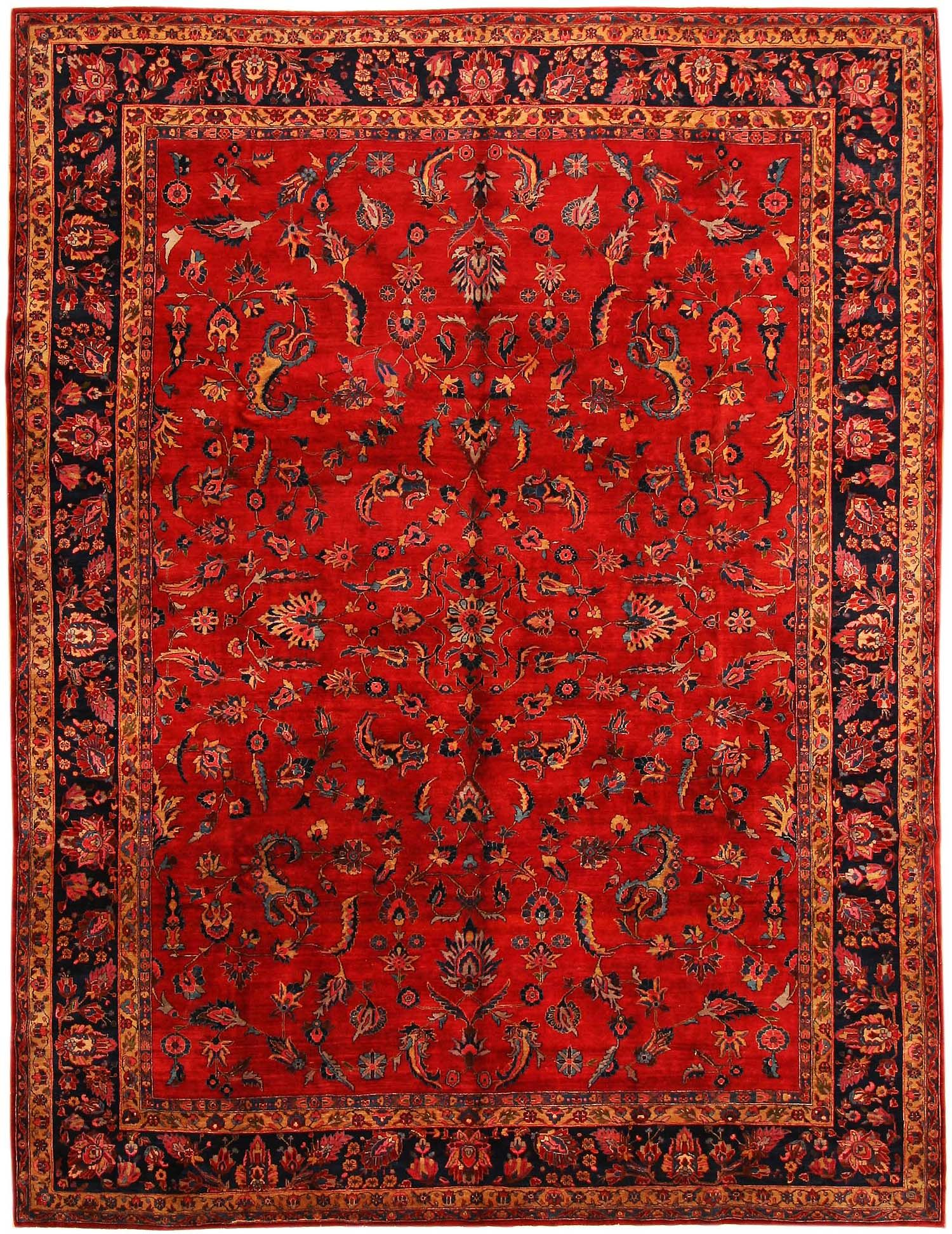 Good Antique Sarouk Persian Rug 43524