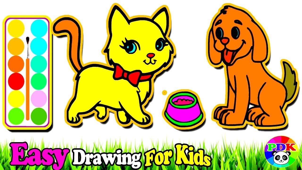 Cat And Dog Pictures To Color