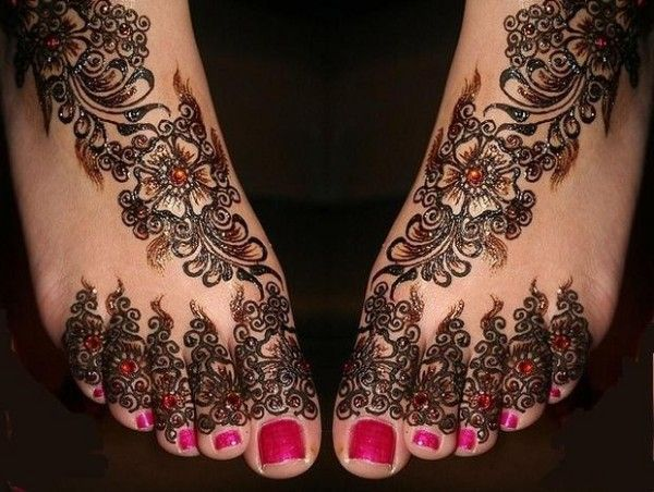 Mehndi Designs For Feet Bridal : New bridal mehndi designs for feet designes