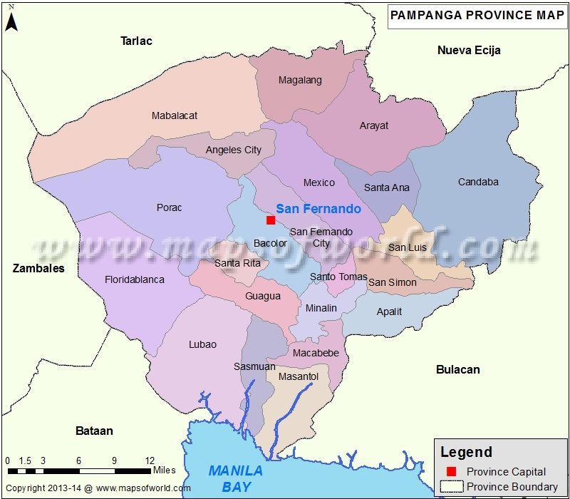 Pampanga Map Philippines Pinterest Mindoro Philippines and