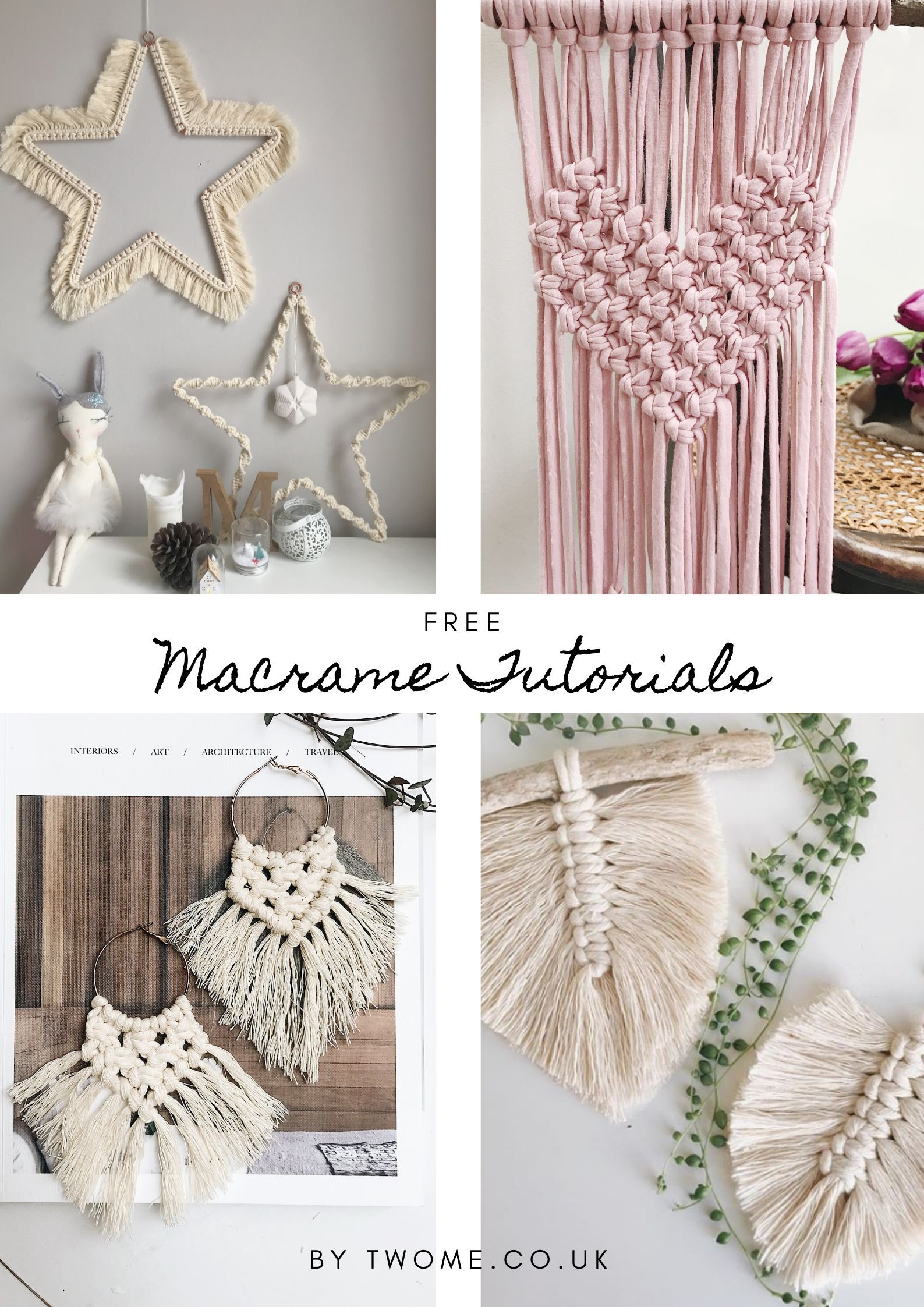 Free Macrame Tutorials For Beginners On How To Learn Macrame With
