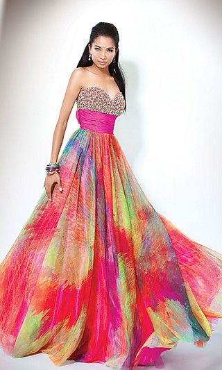 Such a colorful dress! | Dresses!! | Pinterest | Print ...