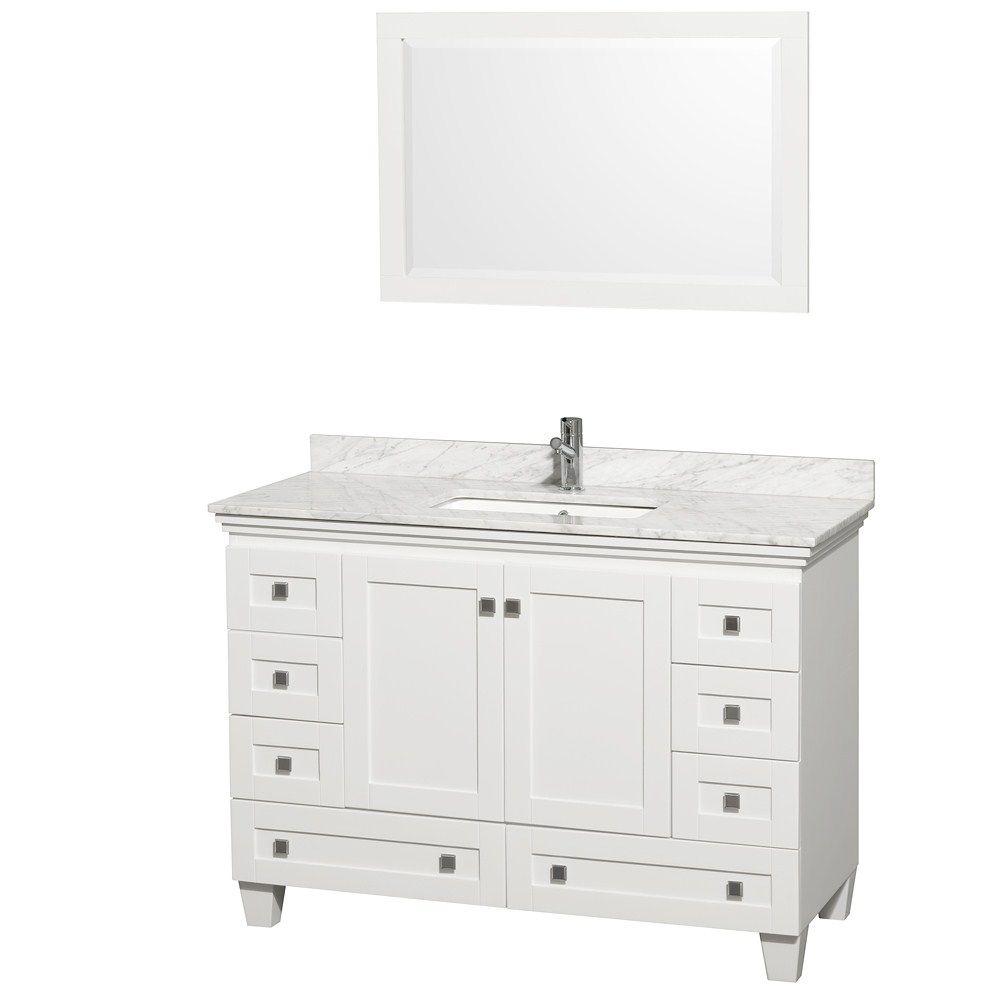 40 Inch Bathroom Vanity White  Bath Rugs & Vanities  Pinterest Beauteous 40 Inch Bathroom Vanity 2018